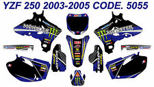 5055 YAMAHA YZF250 YZF450 2003 2004 2005 DECALS STICKERS GRAPHICS KIT
