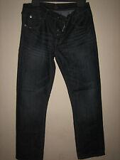 V V 7 )  MENS  BLUE S & J PREMIUM STRAIGHT LEG JEANS BUTTON FLY WAIST 32  LEG 30