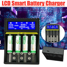 Universal Smart LCD Rechargeable Charger  For 9 Volts 18650 Li-ion Battery lot