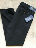 "RALPH LAUREN POLO MEN'S BLACK SLIM FIT CHINOS TROUSERS PANTS - 32"" - NEW & TAGS"