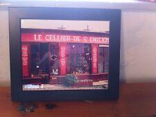 """Handmade Ceramic Tile """"Le Cellier De St. Emilion""""surrounded  by a black frame"""