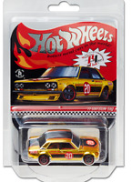 Hot Wheels RLC Red Line Club Exclusive 71 Datsun 510 Gold In Hand Free Shipping