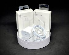 NEW Apple OEM 20 Watt Power Adapter Fast Charger / Lightning Cable BUNDLE