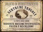 Targa tabella insegna in metallo riproduzione AVVISO CASINO BORDELLO ANNI '20