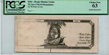 Italy Torino 25 Lire 1792-94 Pick# S126r PCGS 63 Banknote