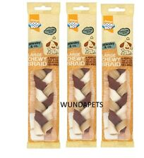 3 X GOODBOY LARGE CHEWY BRAID BEEF FLAVOURED LOW FAT HIDE DOG CHEW TREAT 05640