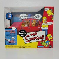 NEW Playmates The Simpsons Talking Family Car World of Springfield 2001 WOS