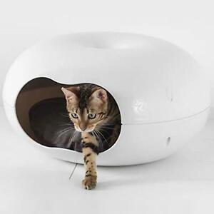 Cat Dog Bed Doonut Waterproof Shelter Indoor or Outdoor House Plastic Rabbit Pet