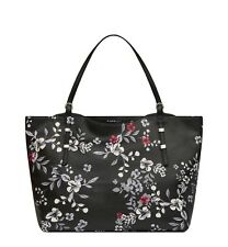 Fiorelli NEW Soho black floral print large faux leather tote shoulder bag BNWT