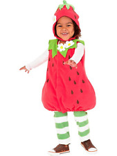 NWOT OLD NAVY 3 piece STRAWBERRY COSTUME SIZE 0-6 MO 3 6 Halloween