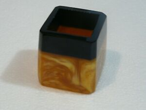 Vintage Art Deco Amber Color Lava Flow Catalin Bakelite Small Vase or for Pencil