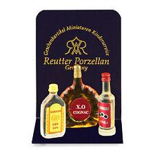 Reutter Porzellan Flaschenset / Liquor Bottle Set Puppenstube 1:12 Art 1.952/0