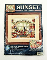 Sunset No Count Cross Stitch Kit Cultivate Nourish Grow 13947 Amy Piccard Sealed