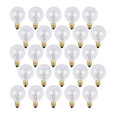 25 Pack - Clear G40 Globe Light Bulbs Replacement For Patio String Lights 5 Watt
