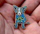 George Rodrigue Art Foundation Oak Tree Blue Dog Mini Lapel Pin Tie Tac GRFA !!!