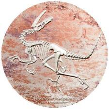 Mongolei 2.000 Togrog 2018 Velociraptor Prähistorische Bestien (1.) 3 Oz Silber