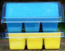 6pk MONKEY FARTS banana mango Organic SOY WAX CLAM CANDLE MELTS 100 hour BLUE