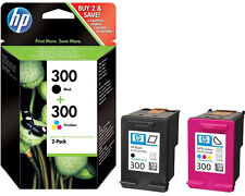 Genuine Black & Colour HP 300 Ink Cartridge Multipack (HP CN637EE) CC640E CC643E