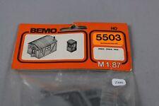 Z386 BEMO 5503 Maquette train Ho 2 cabane de chantier tole arrondi + guerite