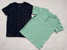 Lee Boys 2pc Blue Dinosaurs & Green Short Sleeve Shirts Size 7
