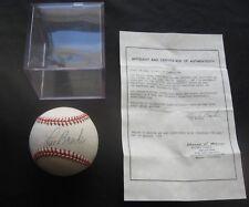 Lou Brock St Louis Cardinals HOF Autographed Signed Baseball COA