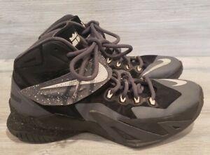 Nike ID Zoom Soldier 9 Mens Basketball Shoes Grey/Black 708323-991