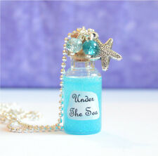 Under The Sea Bottle Pendant Necklace, Little Mermaid Inspired, Ariel,
