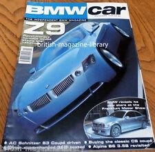 BMW Car Magazine November 1999 - Alpina E30 B6 3.5 S revisited
