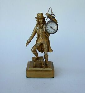 ANTIQUE FRENCH  POCKET WATCH STAND/ DISPLAY HOLDER SIGNED.