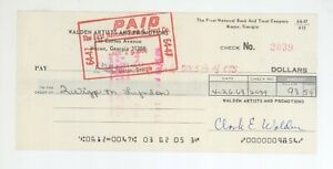 RARE Allman Brothers Road Manager Twiggs Lyndon Jr Signed Cancelled Check! ABB