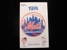1974 New York Mets Baseball Schedule