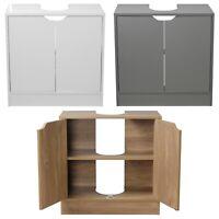 Full Pedestal Bathroom Sink Cabinet Under Basin Unit Cupboard Storage Furniture