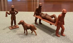 RARE 1950's Timmee Rust/Brown Complete Medical Team w/Dog MARX