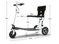 3 Wheel Electric Folding Mobility Scooter Compact Portable 3 Speed Mode NEW4