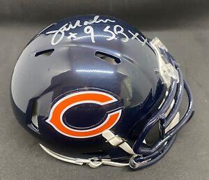 "Jim McMahon/Chi Bears-Auto Riddell Speed Mini Helmet ""#9 & SB XX"" - TRISTAR COA"