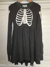 NWT WILDFOX COUTURE Skeleton Babydoll Dress Halloween Small S  *FREE PRIORITY*
