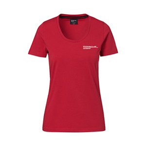 New Genuine Porsche Drivers Selection Womens Motorsport Red TShirt Size Small