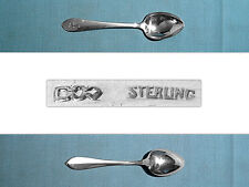 "DOMINICK & HAFF STERLING 4 1/4"" DEMITASSE SPOON(S) ~ POINTED ANTIQUE ~ MONO F"