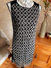 Diane von Furstenberg black mesh dress size S UK8/10