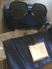 Men's Gucci Authentic GG0447S 002 56-18 145 Round Frame Sunglasses w/ Case - New