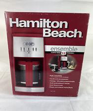 New Hamilton Beach Ensemble 12 Cup Coffee Maker -Red 43253H Open Box