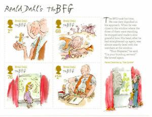 MINT 2012 GB ROALD DAHL THE BFG CHILDRENS STORIES STAMP MINI SHEET