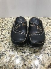 L'ARTISTE Spring Step Chino 8.5/39 Black Backless Wedge Platform Mule Clog Shoes