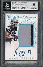 2015 National Treasures Amari Cooper 1/1 BGS #126 Blue JSY Rookie Patch Auto RC