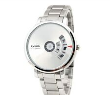 Wilon 938 Mens Silver Analog Stainless Steel Swivel Fine Fashion Watch