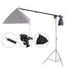 Selens Telescopic Boom Pole Arm + Grip Head Clamp w/ Weight Bag For Photo Studio