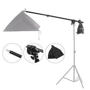 Selens Telescopic Boom Pole Arm + Grip Head Clamp w/ Weight Bag For Photo Studio