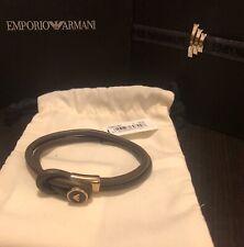 Emporio Armani Men's Leather Bracelet
