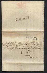 Kirchenstaat 1824, mit Inhalt, Stempel auf beiden Seiten selten! #l382
