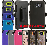 Fits Samsung Galaxy S6 Case Cover Rugged With Belt Clip Fits Otterbox Defender
